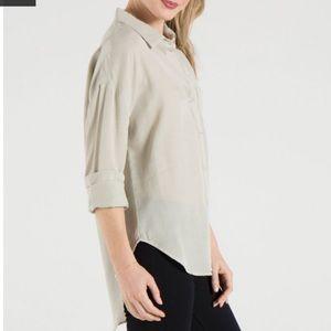 NWOT Bella Dahl Drop Shoulder Shirt